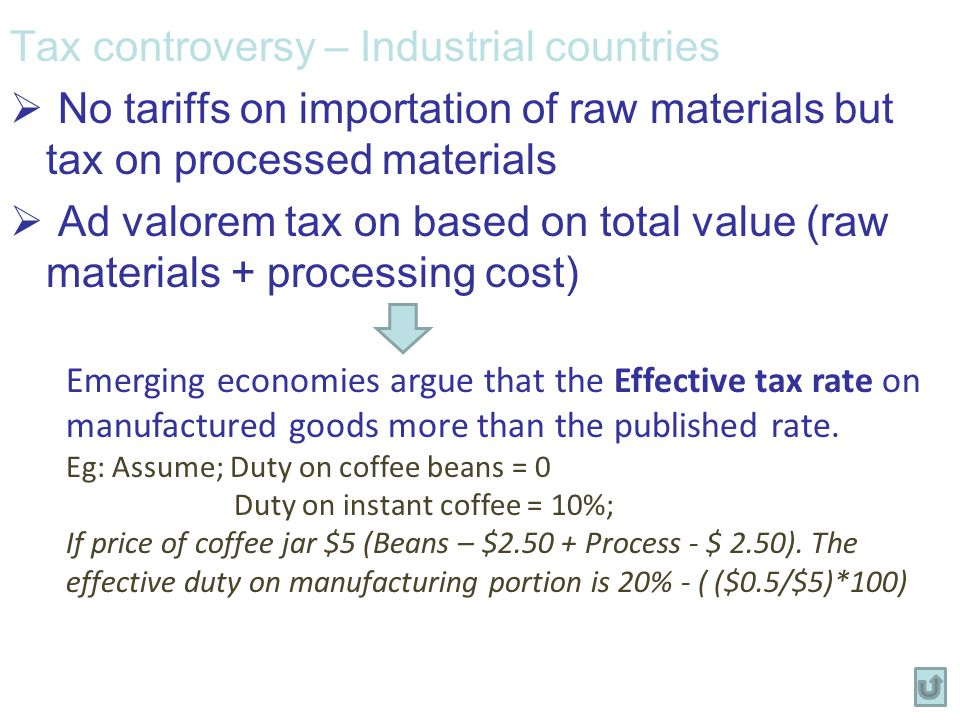 Tax controversy – Industrial countries