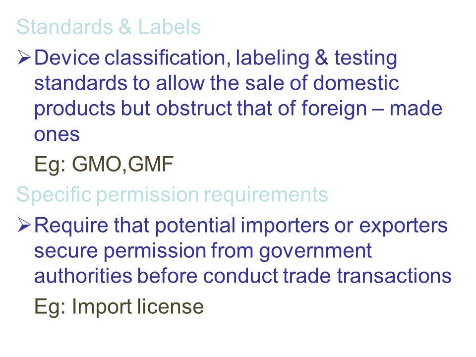 Standards & Labels