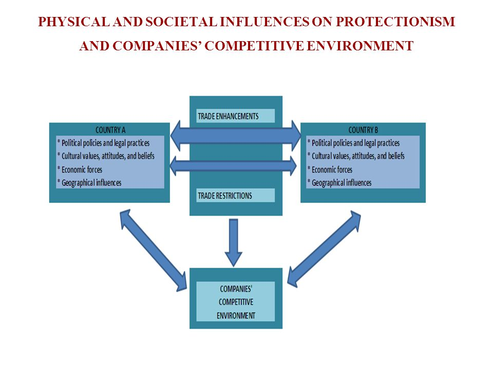 PHYSICAL AND SOCIETAL INFLUENCES ON PROTECTIONISM AND COMPANIES' COMPETITIVE ENVIRONMENT