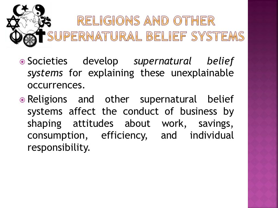 Religions and Other Supernatural Belief Systems