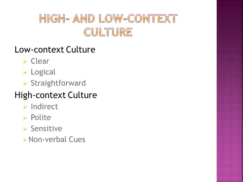 High- and Low-context Culture