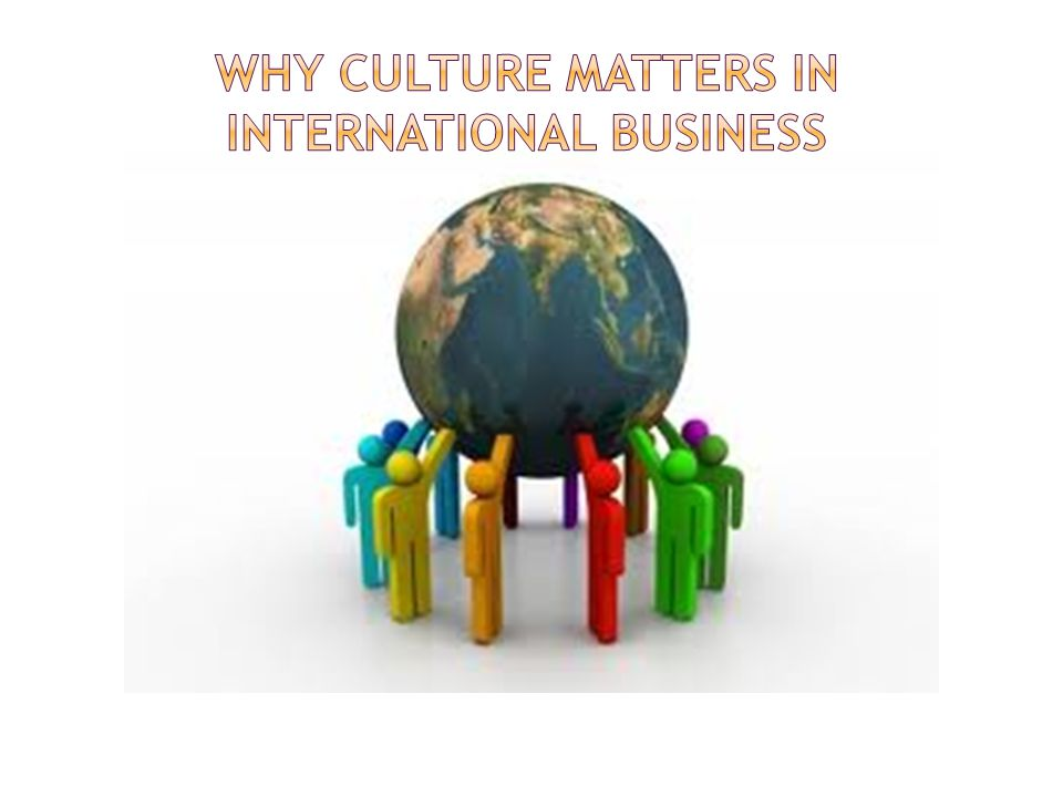 Why Culture Matters in International Business