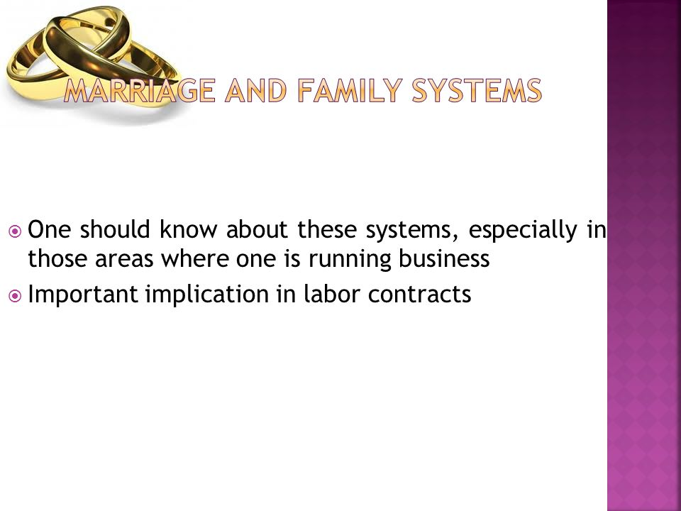 Marriage and Family Systems