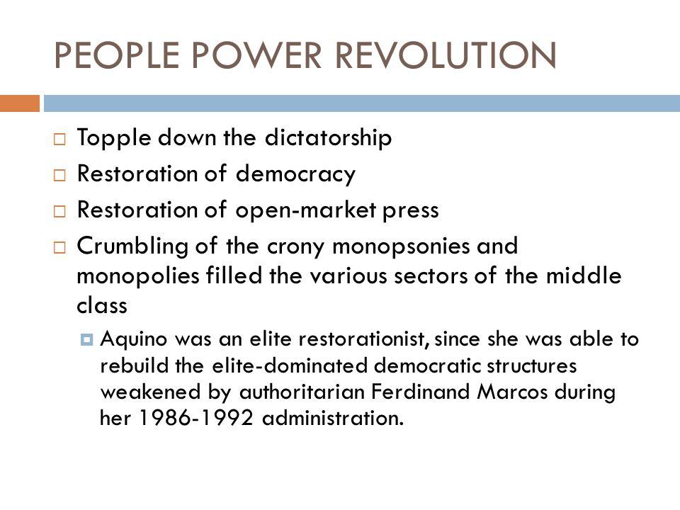 PEOPLE POWER REVOLUTION