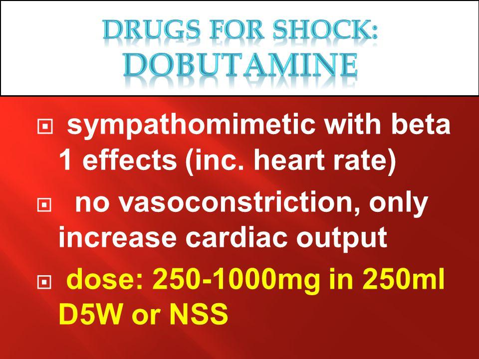 Drugs for SHOCK: DObutamINE