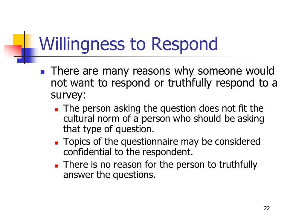 Willingness to Respond