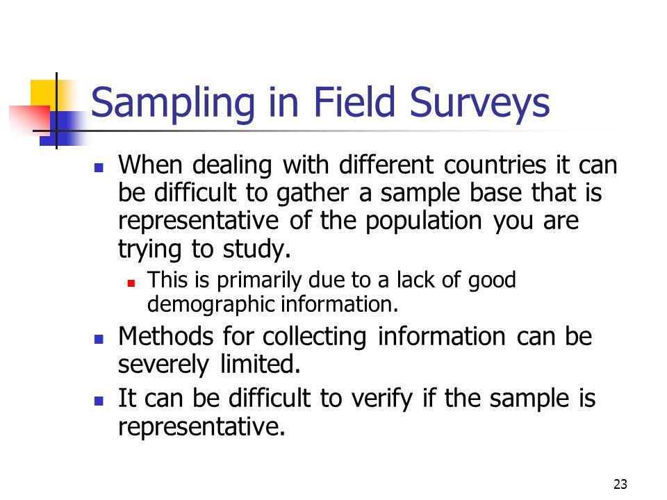 Sampling in Field Surveys