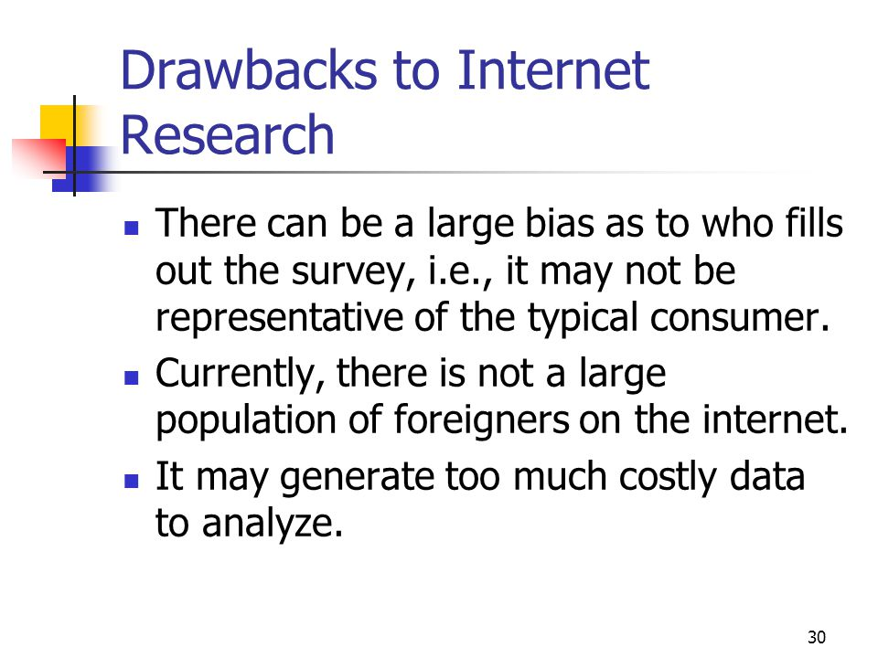 Drawbacks to Internet Research