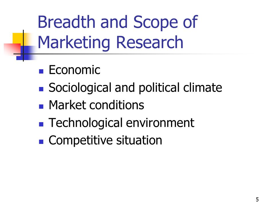 Breadth and Scope of Marketing Research