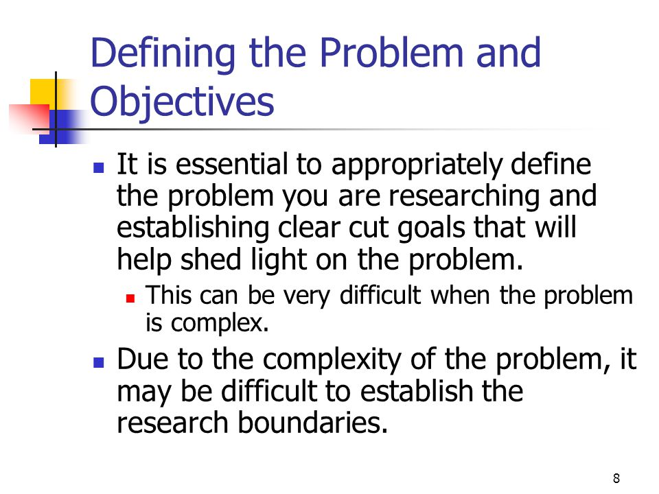 Defining the Problem and Objectives