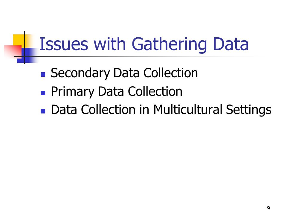 Issues with Gathering Data