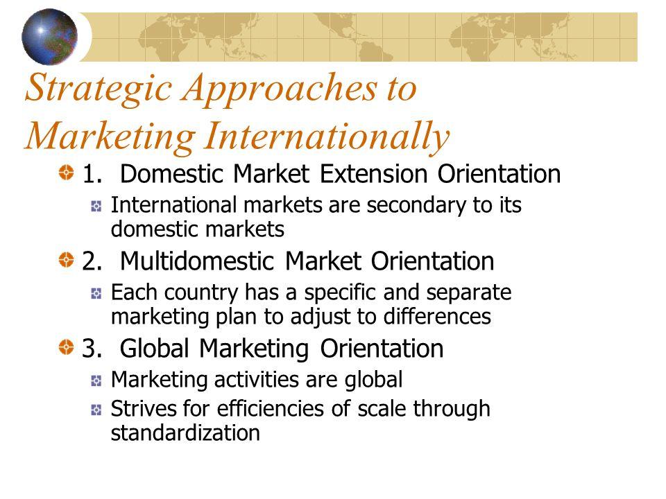 Strategic Approaches to Marketing Internationally