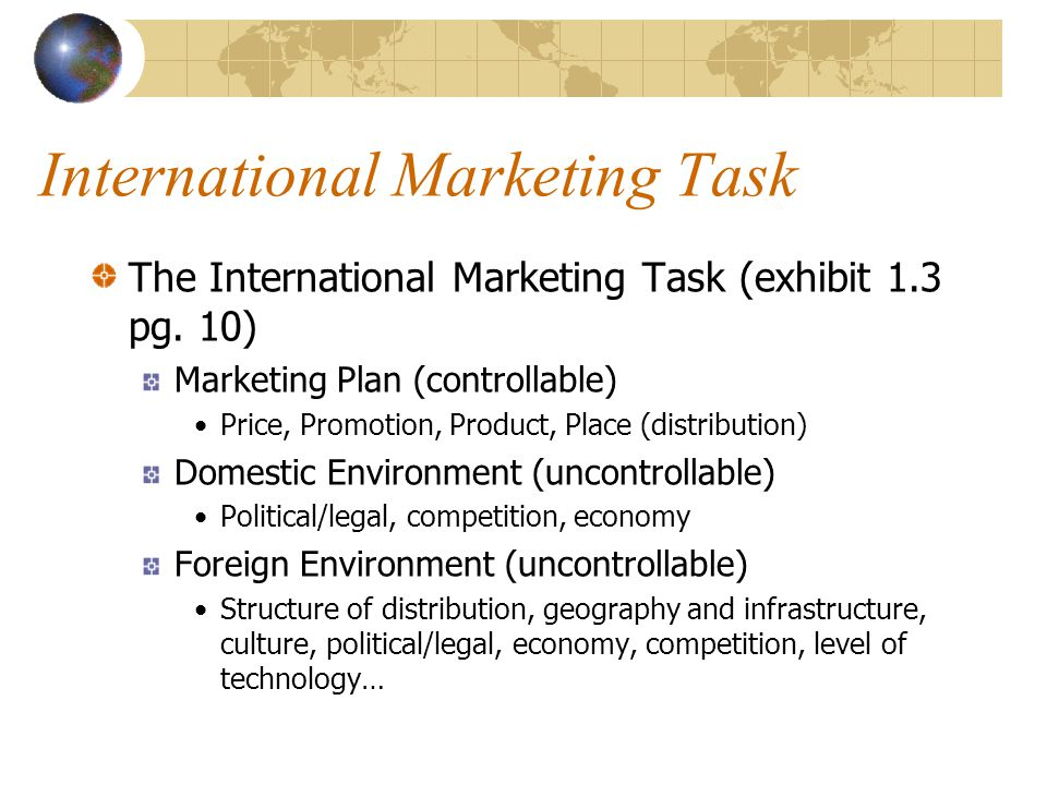 International Marketing Task