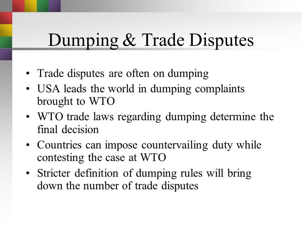 Dumping & Trade Disputes