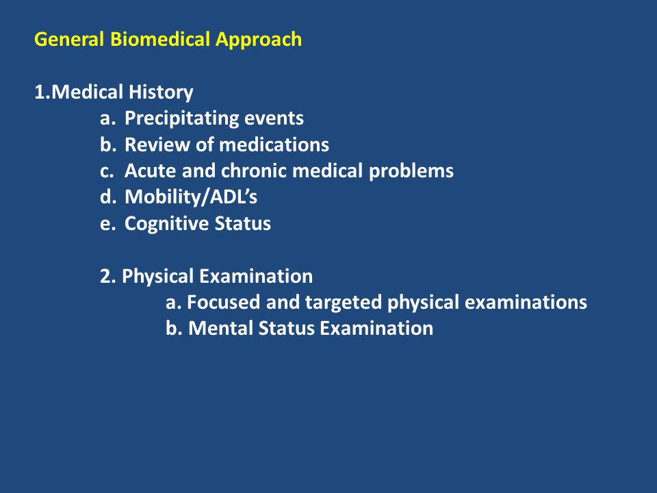 General Biomedical Approach