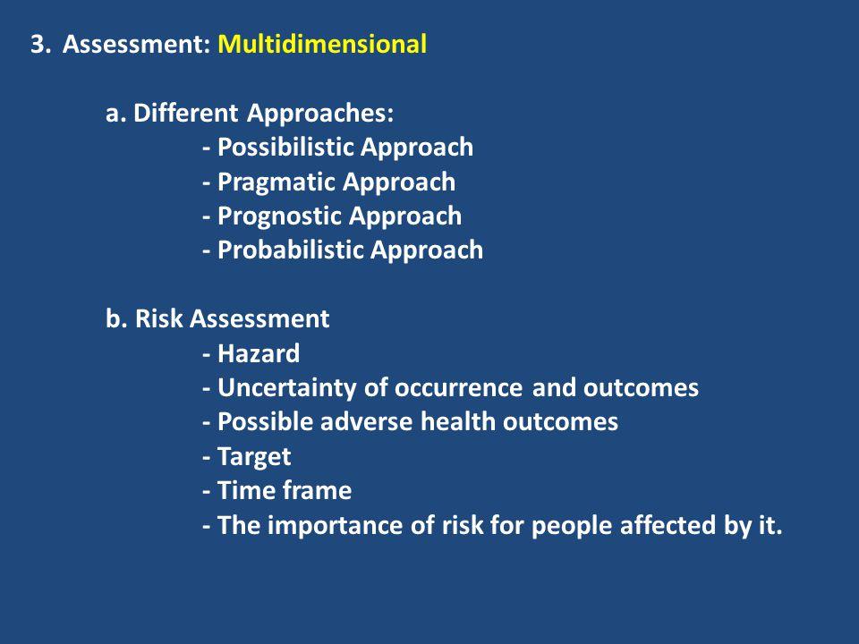 Assessment: Multidimensional