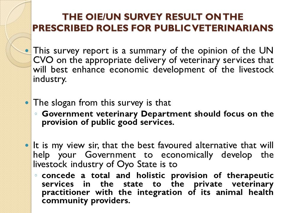 The slogan from this survey is that
