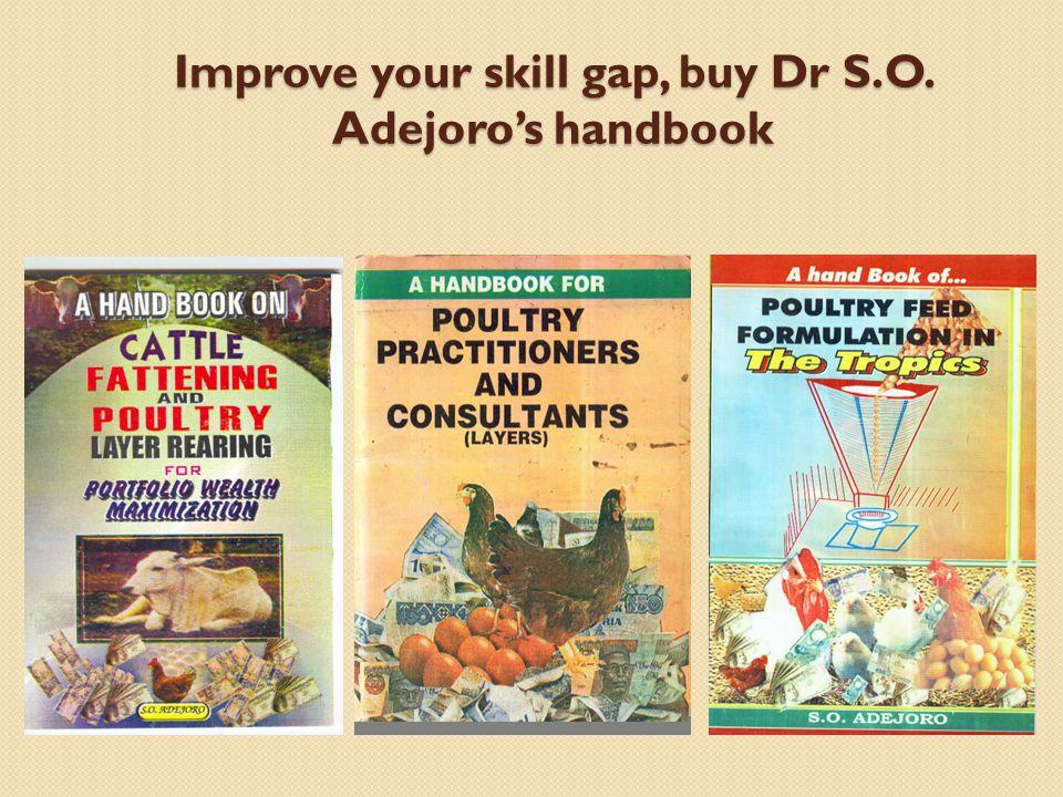 Improve your skill gap, buy Dr S.O. Adejoro's handbook