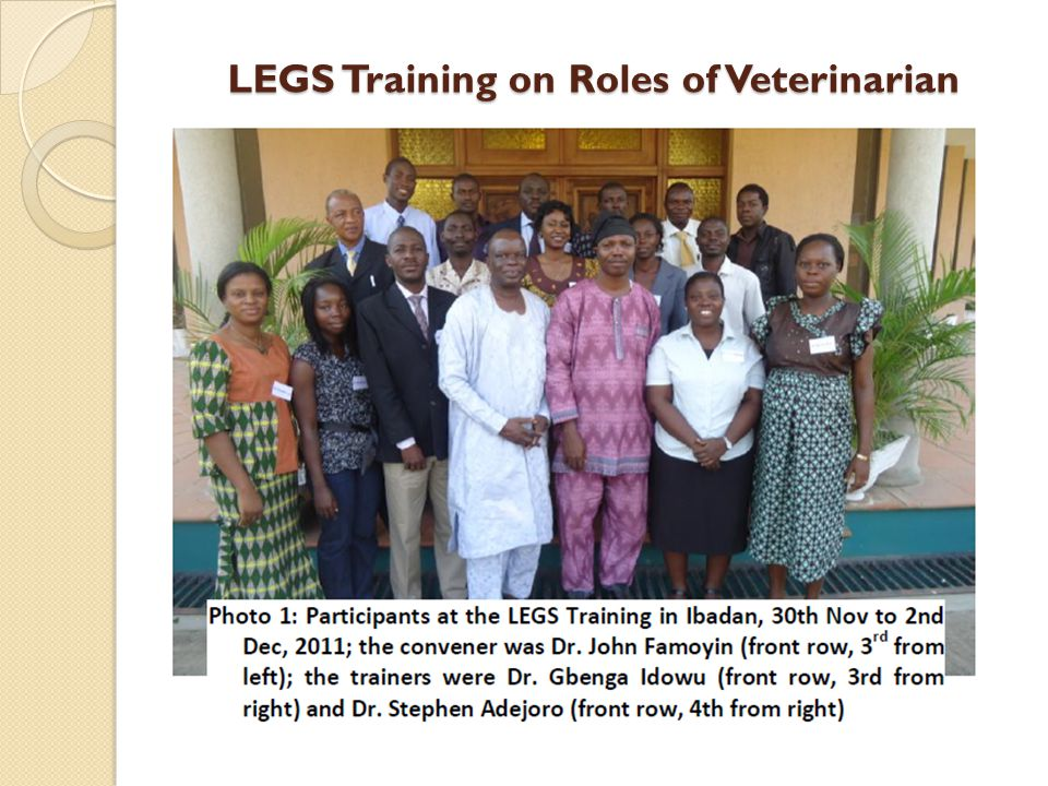 LEGS Training on Roles of Veterinarian