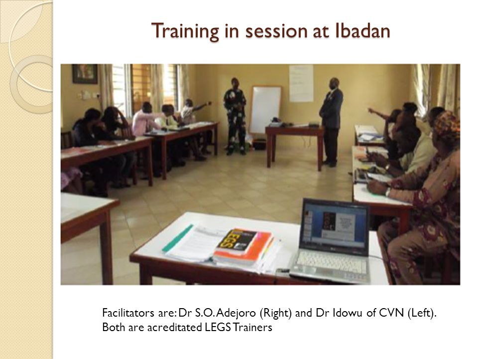Training in session at Ibadan