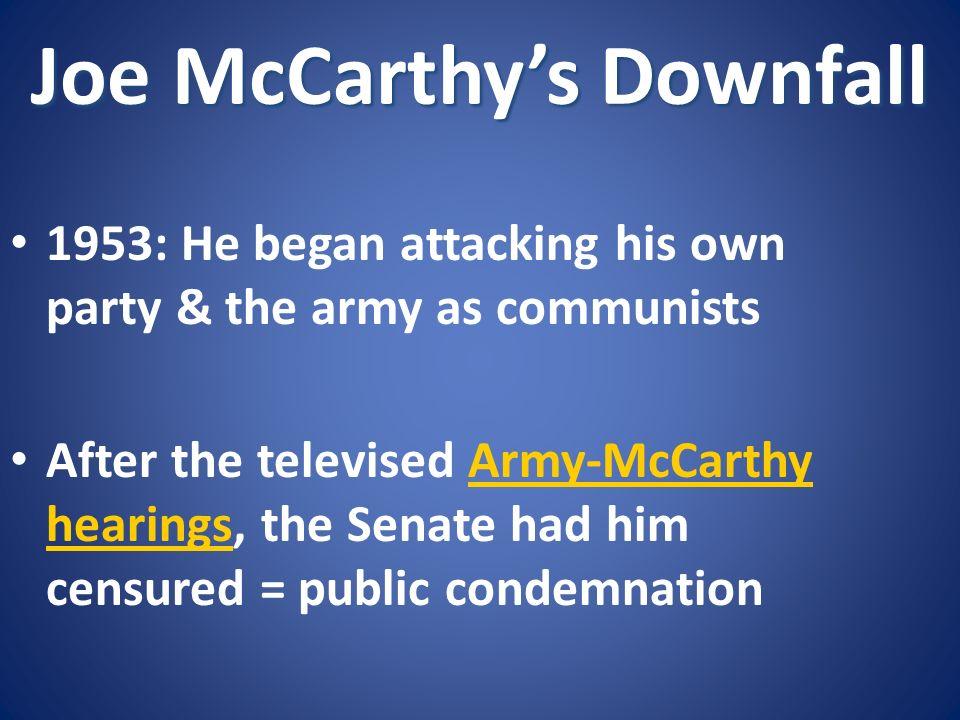 Joe McCarthy's Downfall