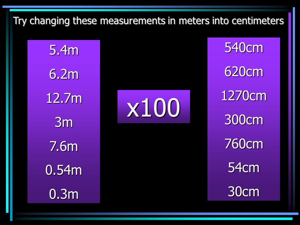 Try changing these measurements in meters into centimeters