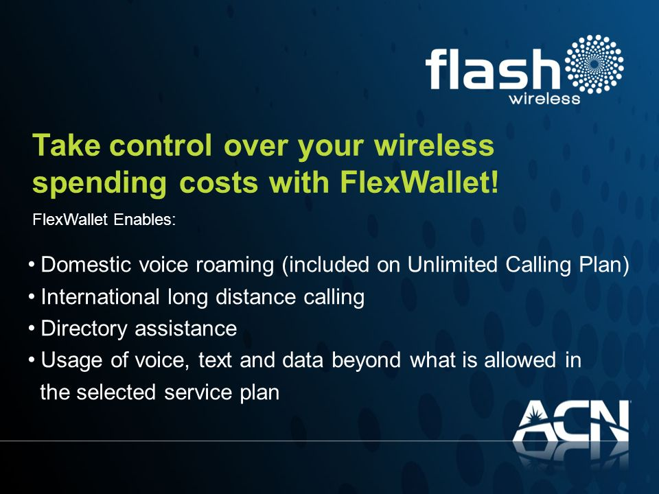 Take control over your wireless spending costs with FlexWallet!