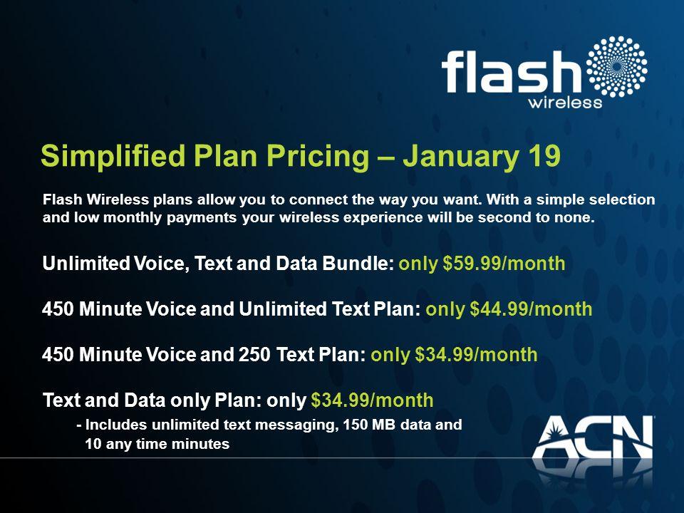 Simplified Plan Pricing – January 19
