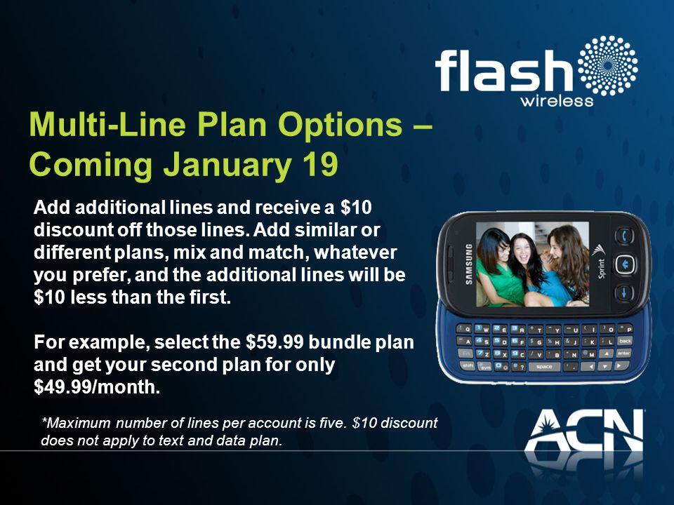 Multi-Line Plan Options – Coming January 19
