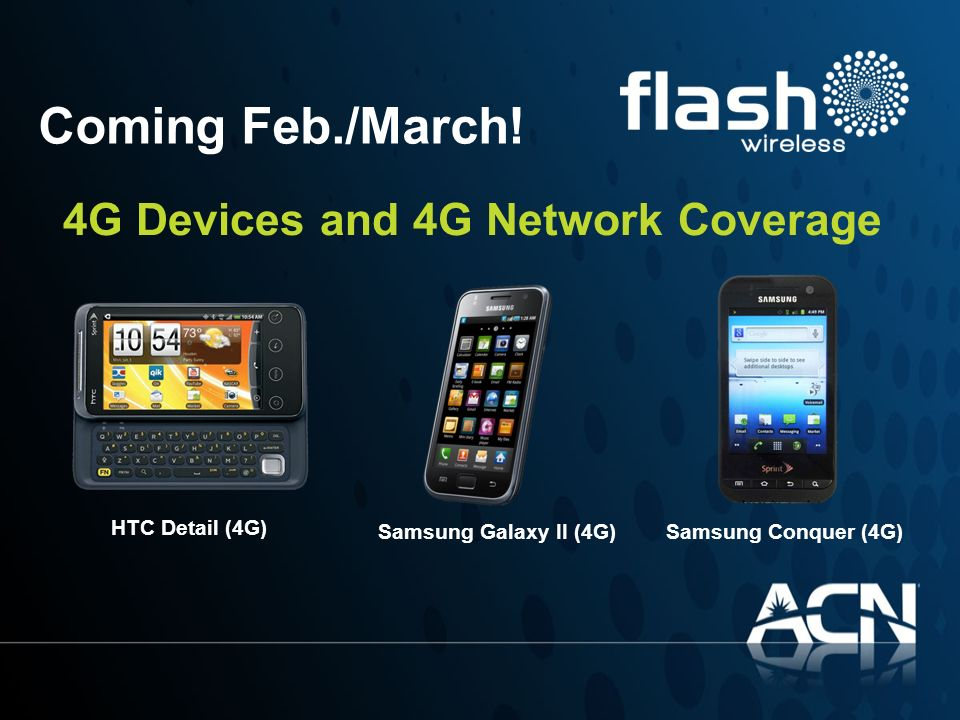 Coming Feb./March! 4G Devices and 4G Network Coverage HTC Detail (4G)