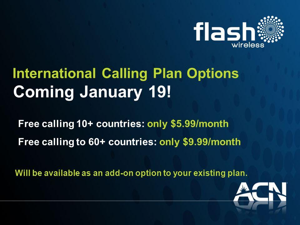 Coming January 19! International Calling Plan Options