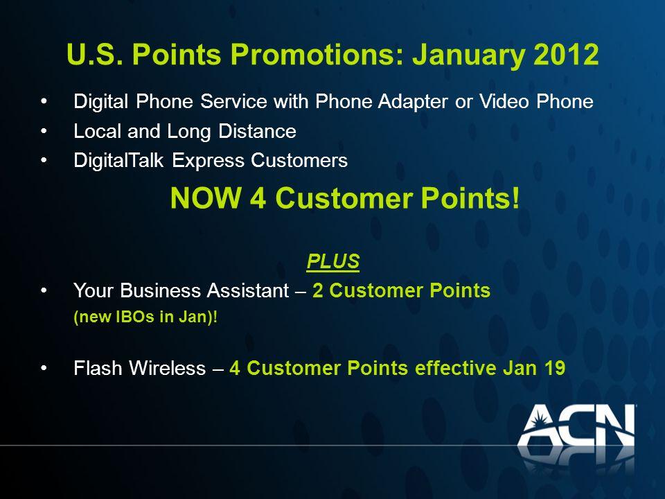 U.S. Points Promotions: January 2012