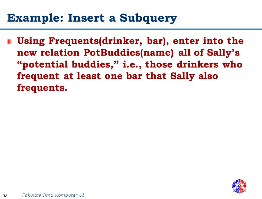Example: Insert a Subquery