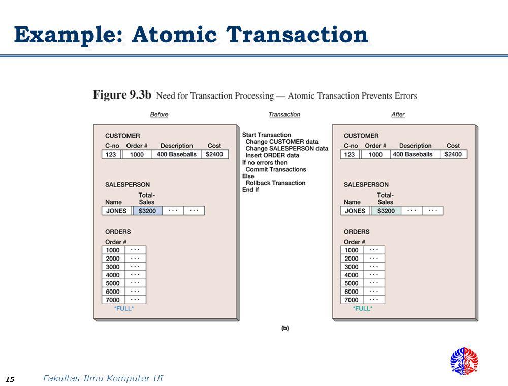 Example: Atomic Transaction