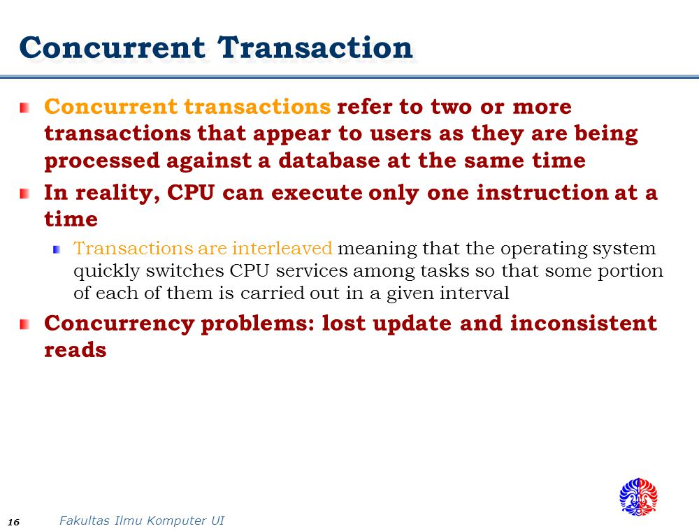 Concurrent Transaction