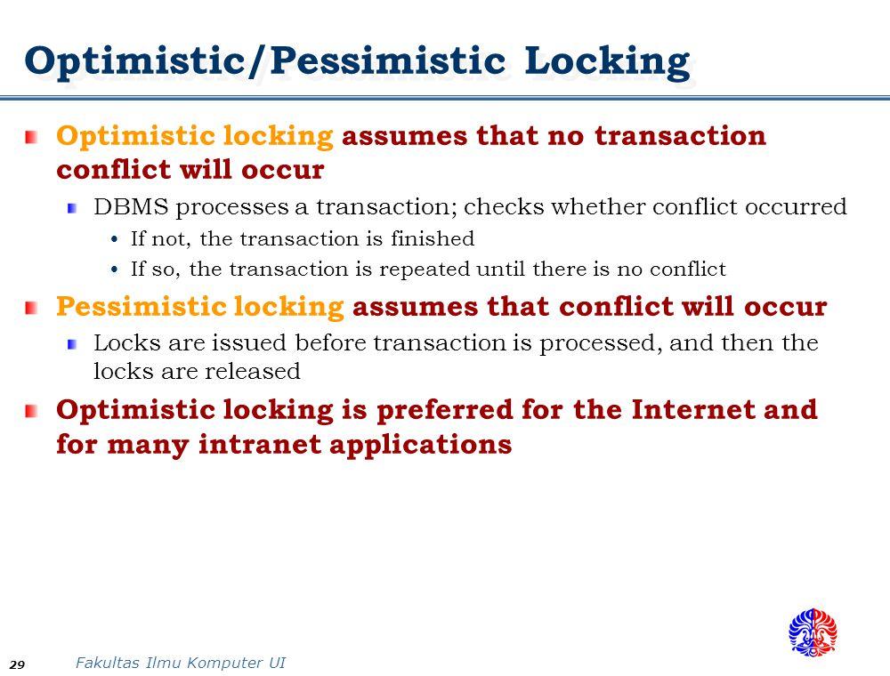 Optimistic/Pessimistic Locking