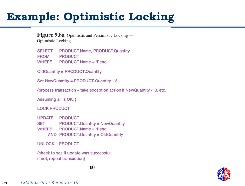 Example: Optimistic Locking