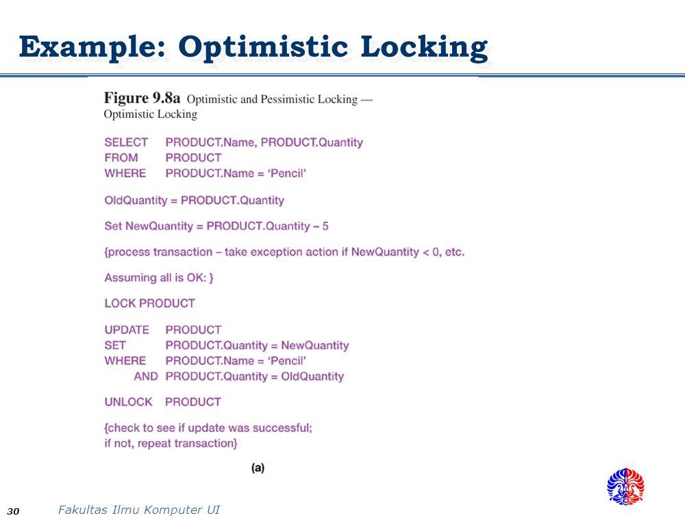 Example: Optimistic Locking