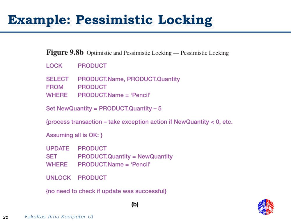 Example: Pessimistic Locking