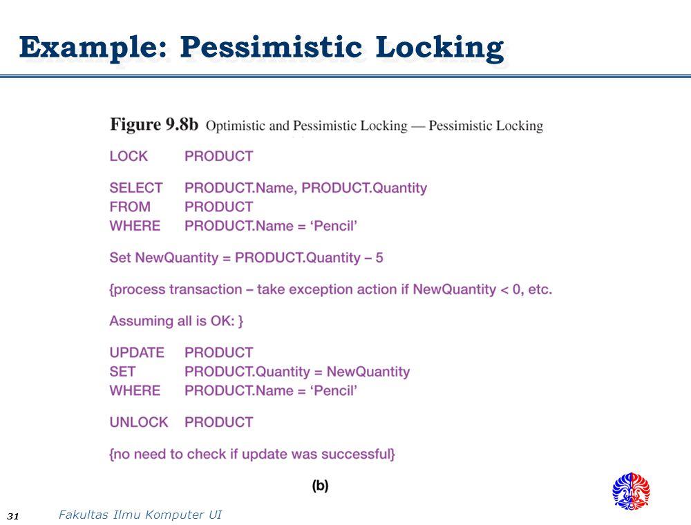 Example: Pessimistic Locking