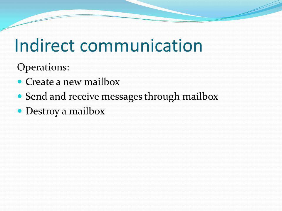 Indirect communication
