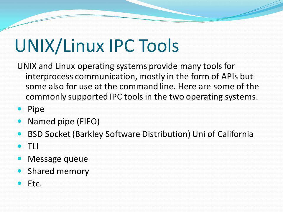 UNIX/Linux IPC Tools