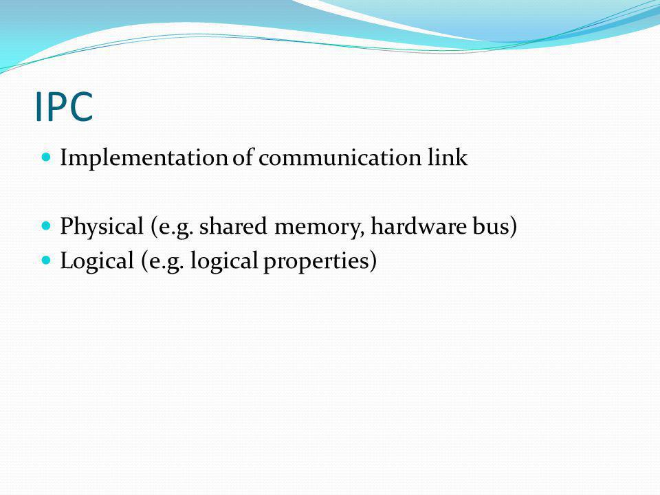 IPC Implementation of communication link