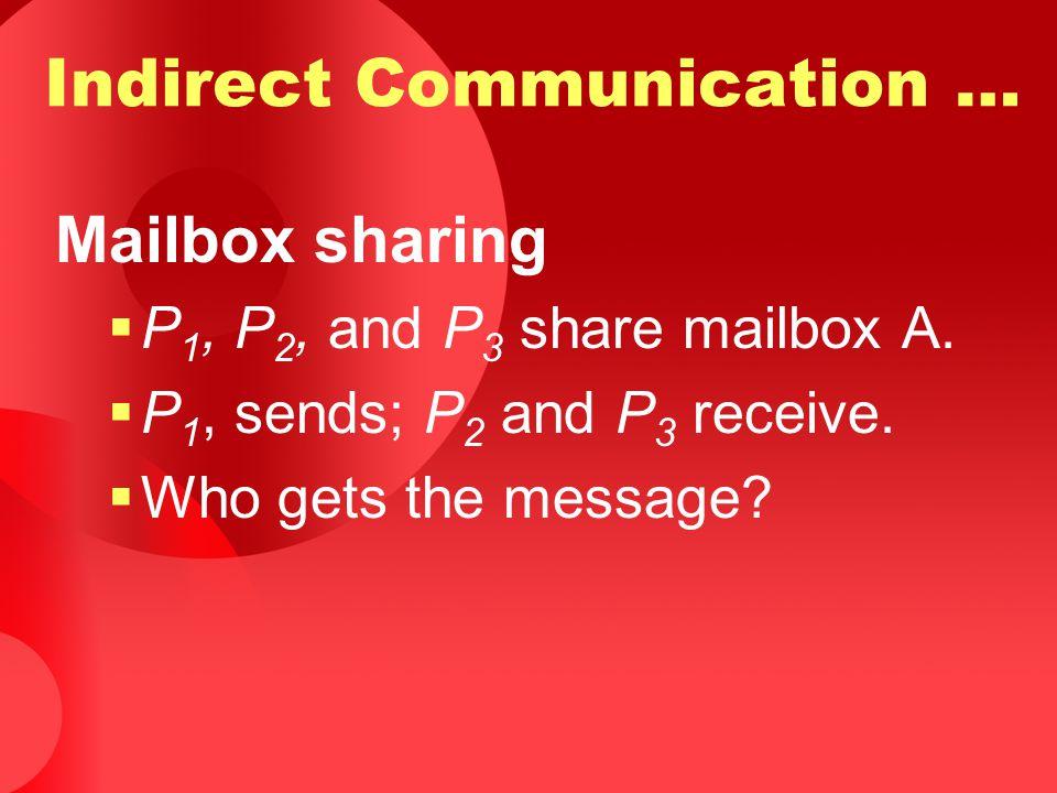 Indirect Communication …