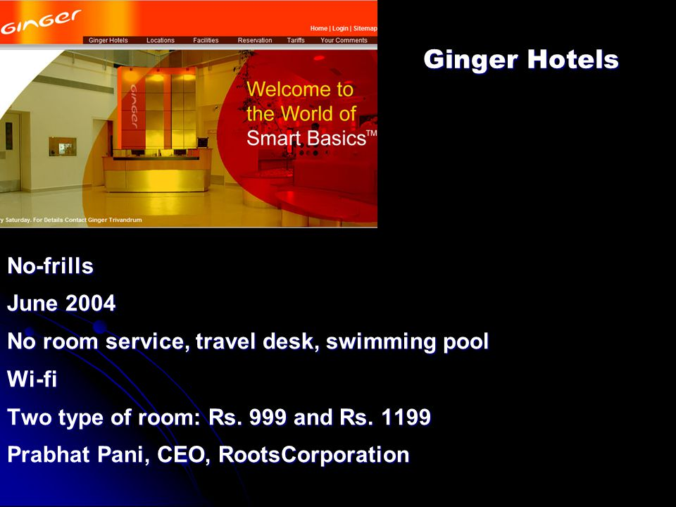 Ginger Hotels No-frills June 2004
