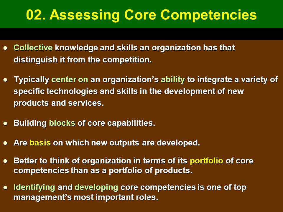 02. Assessing Core Competencies