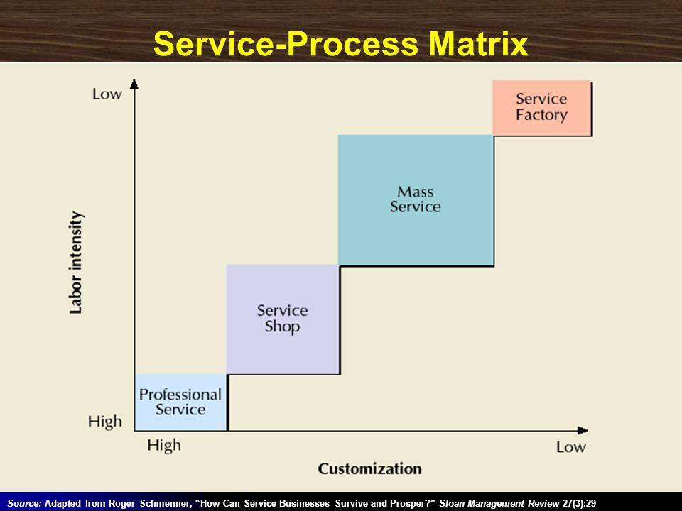 Service-Process Matrix