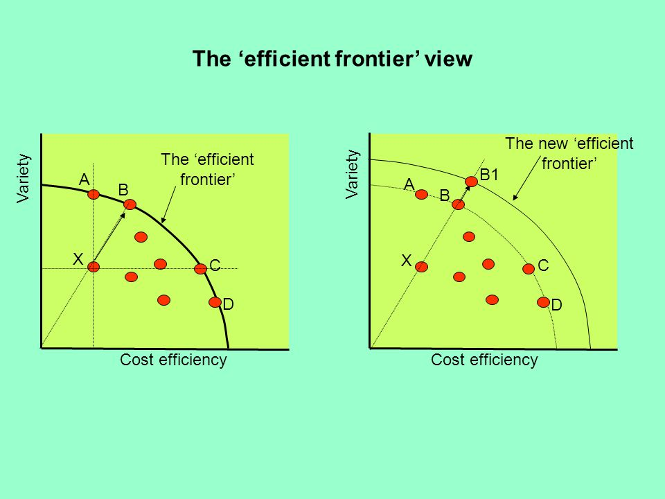 The 'efficient frontier' view