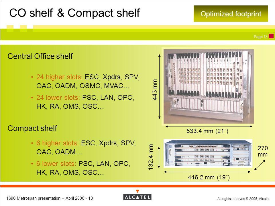 CO shelf & Compact shelf