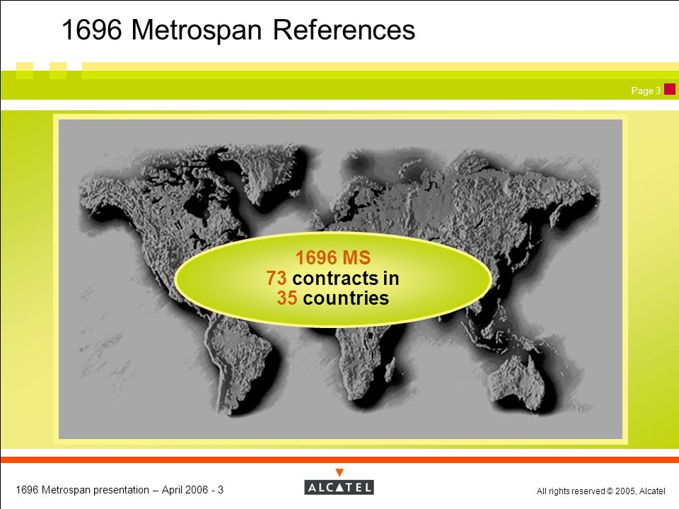 1696 MS 73 contracts in 35 countries